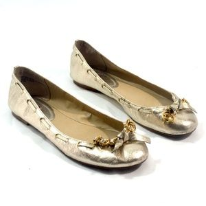 Juicy Couture Light Gold Ballet Flats 8.5
